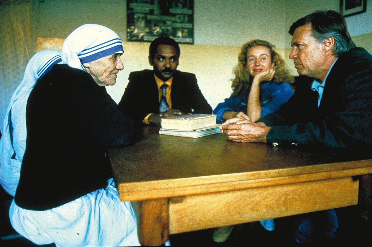 Karlheinz Böhm mit Mutter Teresa