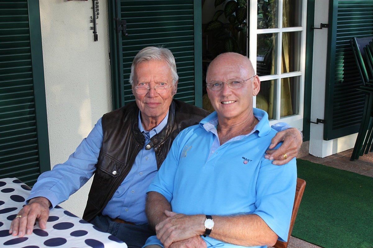 Rolf Knie mit Karlheinz Böhm