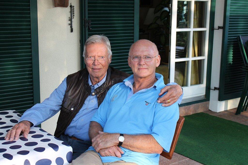 Karlheinz Böhm mit Rolf Knie
