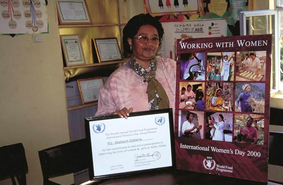 Abebech Gobena mit Auszeichnung