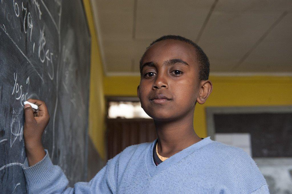 Abebech Gobena Schule -Josef Seyoum, 12, Sechstklässler an der Abebech Gobena Schule in Addis Abeba