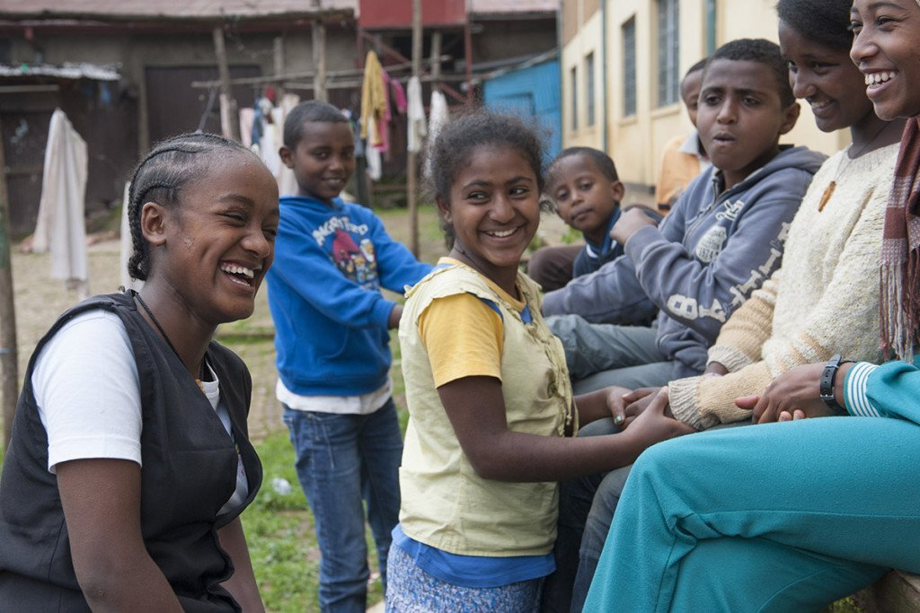 Kinderheim von AGOHELMA -Hanna Mirkena, 16, Waise im Agohelma-Kinderheim in Addis Abeba.