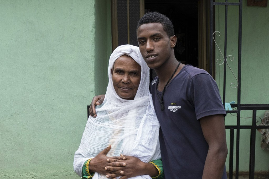 Ephrem Mengescha, 18, war Waise im Agohelma-Kindergarten, bevor er mit 11 Jahren in die Familie von Zelekash Tefera kam