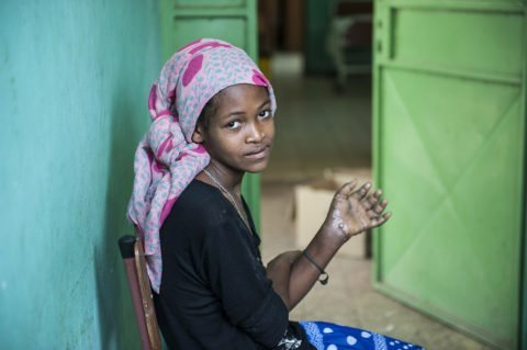 Äthiopier bekommen die Krätze wegen mangelnder Hygiene