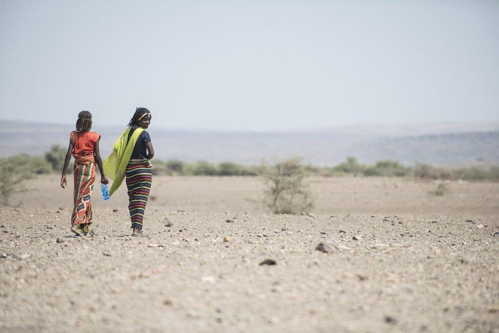 Frauen in der Afar-Wüste