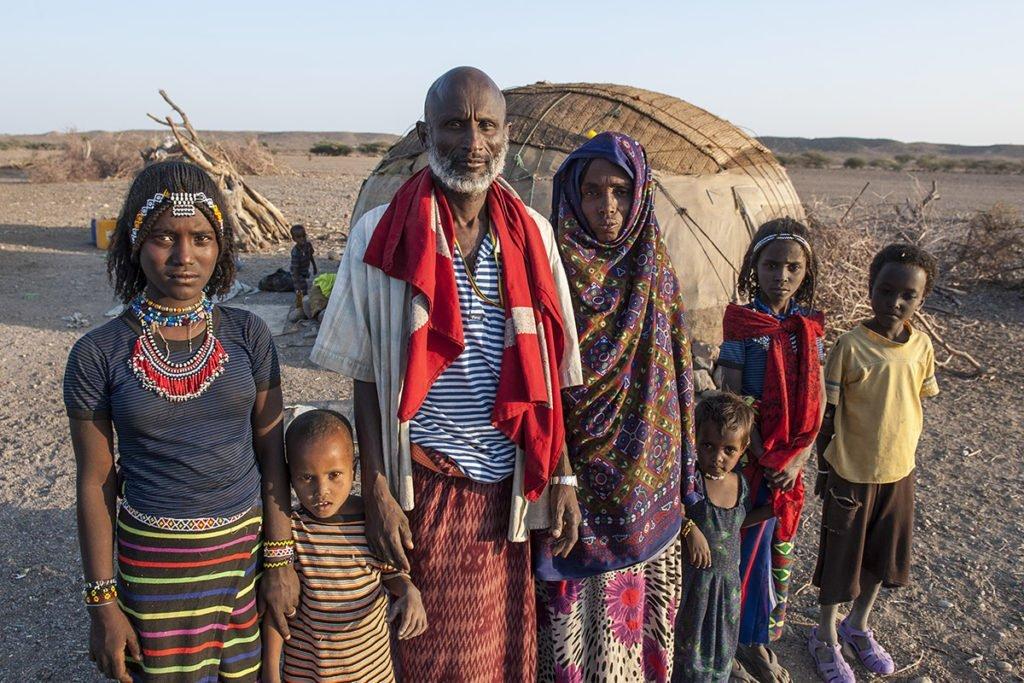 Afar-Familie in Äthiopien