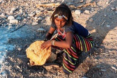 Brot backen in Äthiopien