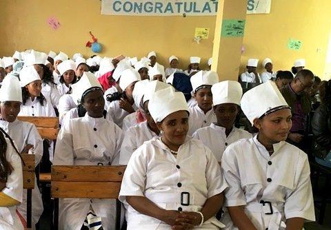 Absolventinnen von Kochausbildung