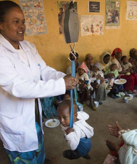 Unterernährte Kinder
