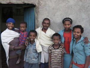 Arme Familie aus Äthiopien
