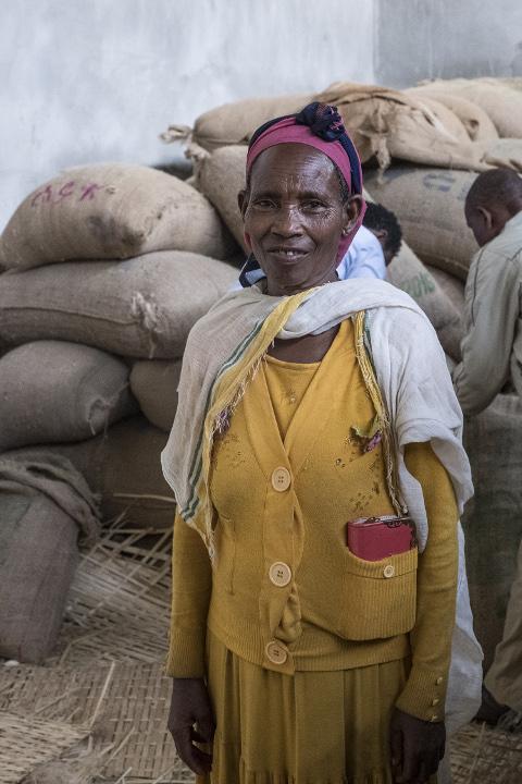 Kaffeebauern in Äthiopien: Kaffeebäuerin Jilo Rufo