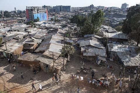 Berufsbildung für Mütter: Slumviertel in Addis Abeba