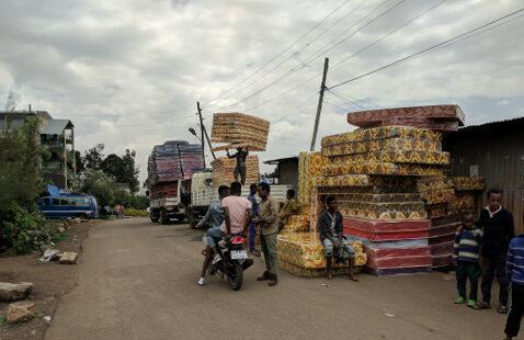 Matratzen in Äthiopien