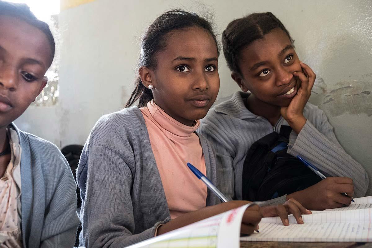 Aster im Unterricht | Stiftung Menschen für Menschen