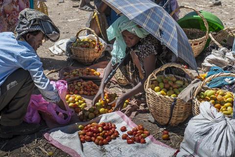 Dorfmarkt in Shewarobit
