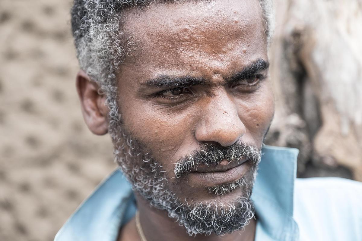 Typisch äthiopische Frisur