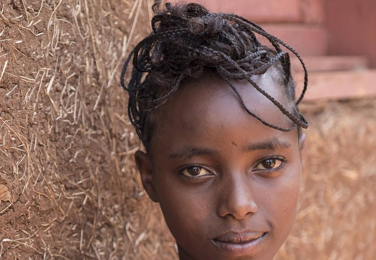 Mädchenfrisur in Äthiopien