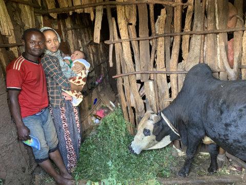 Bauernfamilie in Äthiopien