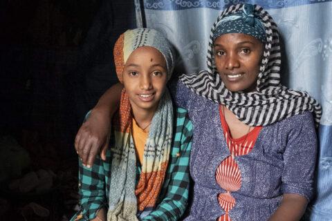 Yerus mit Mutter Sasahu aus Debre Berhan
