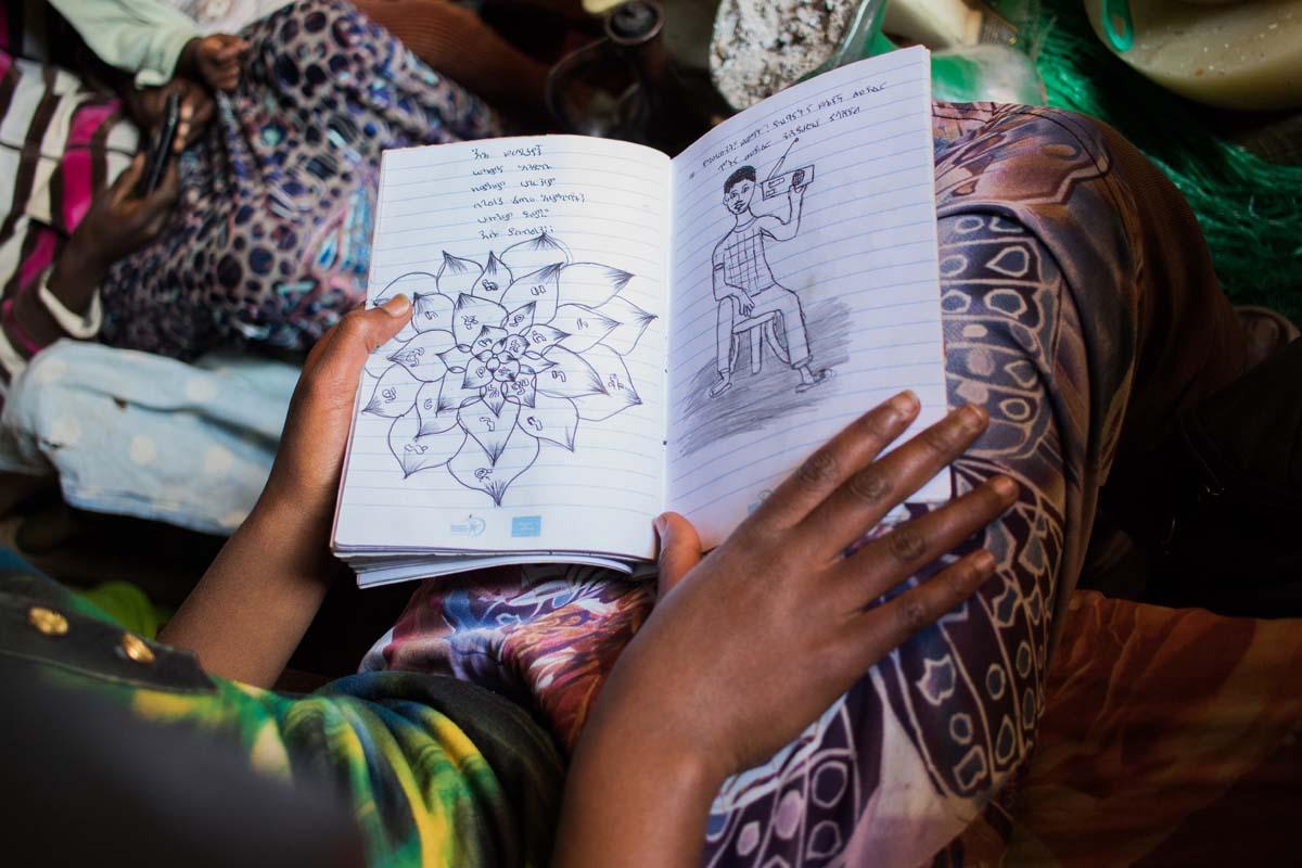 Yerus nutzt das Tagebuch auch, um zu malen.