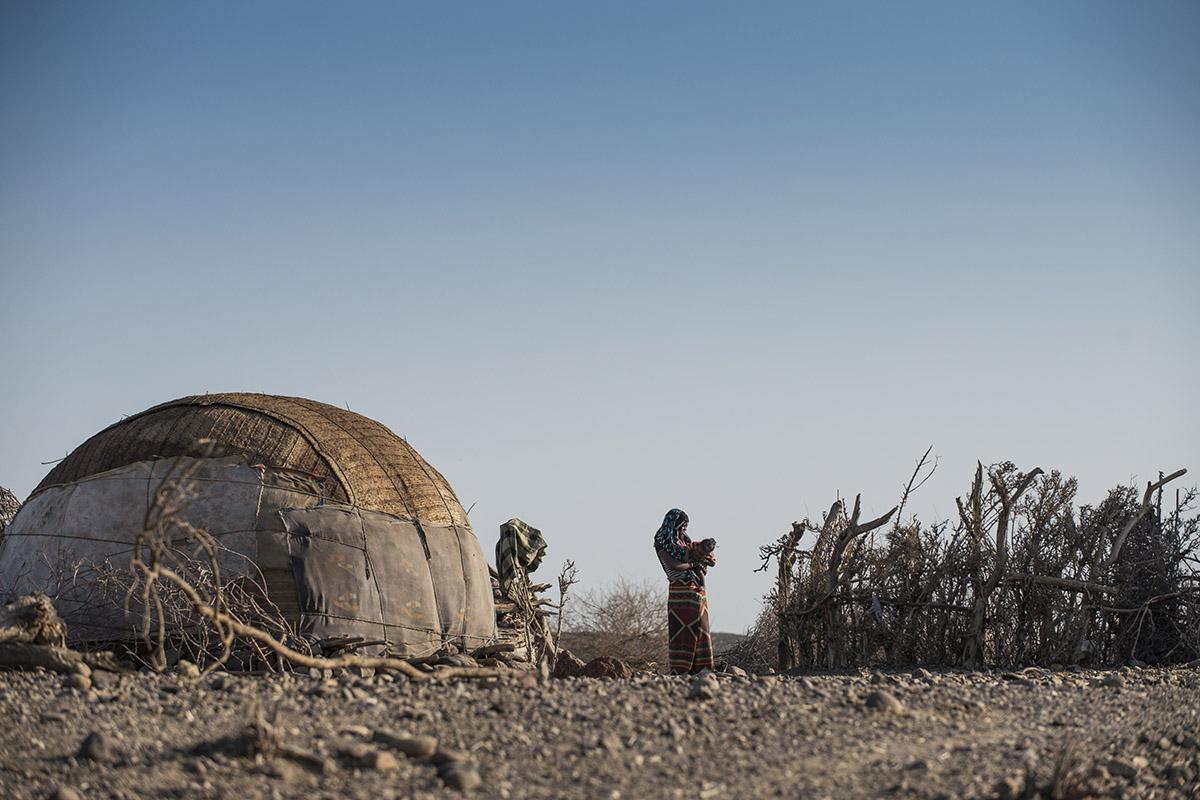 Das Afar-Volk lebt in runden Hütten