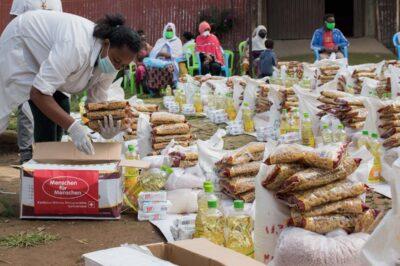 Lebensmittelverteilung aufgrund von Corona-Krise