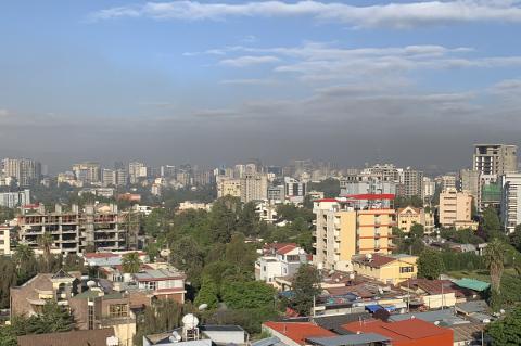Smog über Addis Abeba