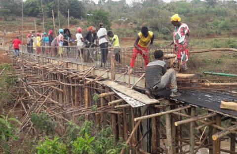 Bauarbeiten am Aquädukt