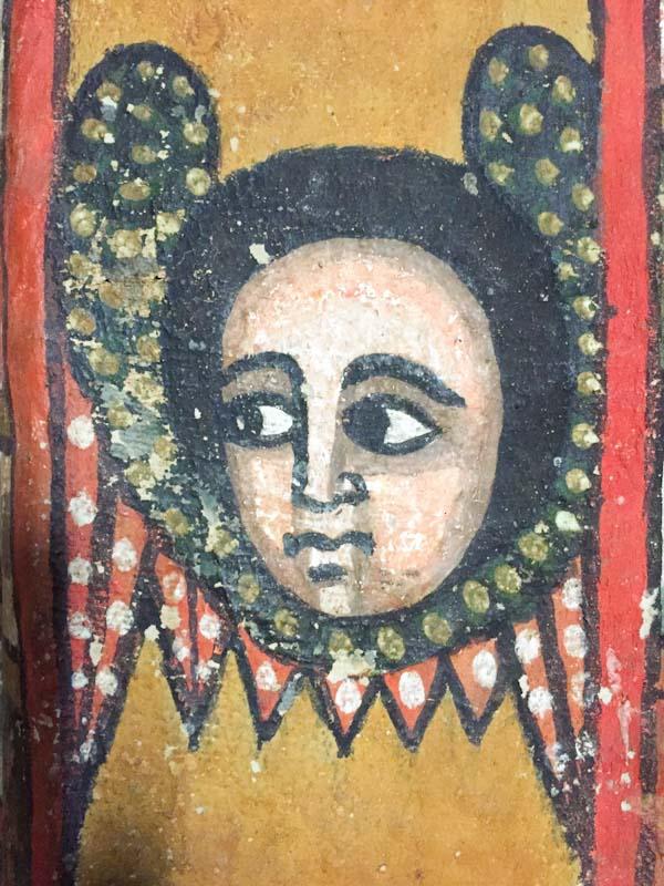 Grosse Augen sind typisch für äthiopische Ikonen